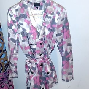 Spring abstract Cynthia Rowley trench